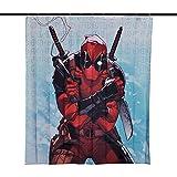 Elbenwald Deadpool Duschvorhang Comic Wand Banner 180x200cm Marvel