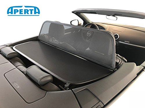 Wind Deflector fits Audi A3 8V7 | Black Tailor Made Windblocker | Draft-Stop Wind Stop Audi Convertible