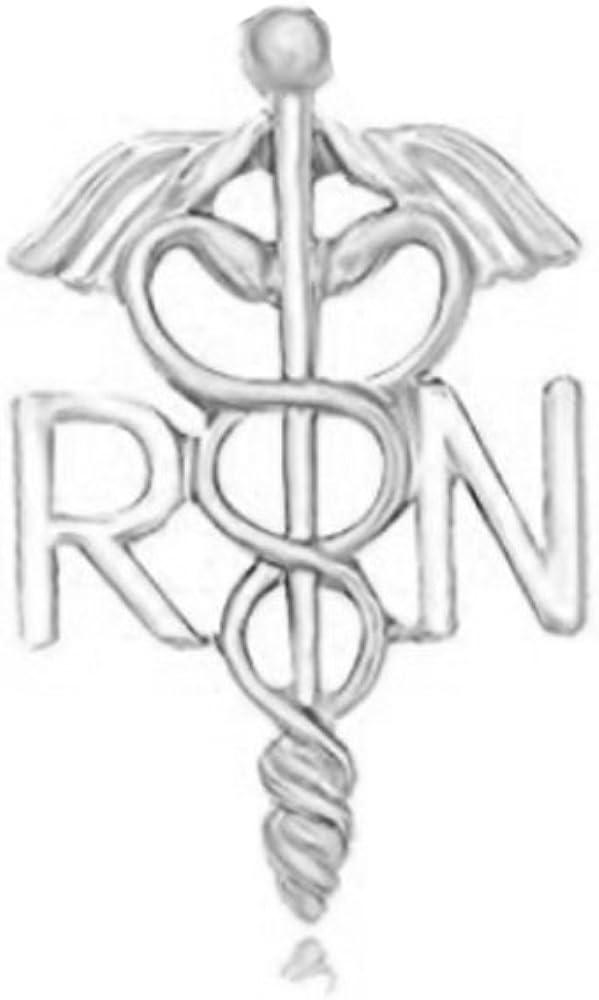 MANZHEN Medicine Caduceus RN Brooch Pins Registered Nurse Gift Brooches