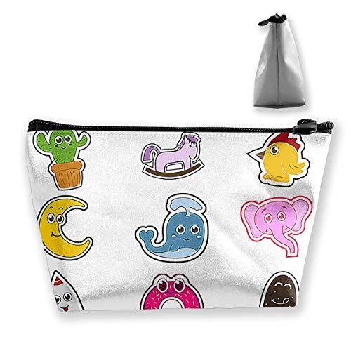 Süße lustige Kühlschrank-Magnet-Charaktere für Damen Reise-Kosmetiktasche, tragbare Kulturbürste, Aufbewahrung, hohe Kapazität, Stifte, Bleistiftbeutel, Zubehör, Nähset, Make-up-Tasche