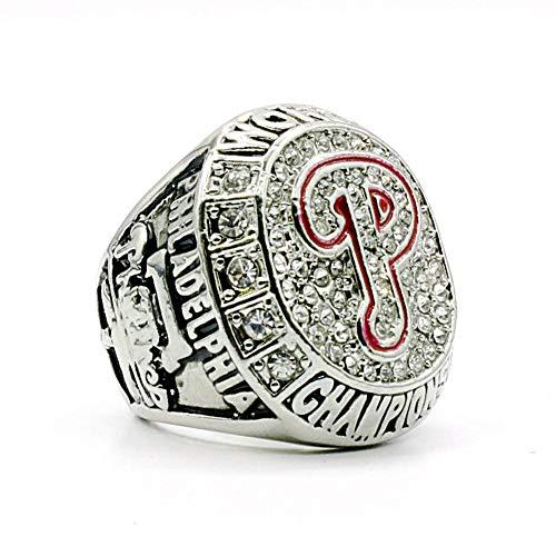 Championship Ring Campeonato Anillos,MLB 2008 Philadelphia Phillies Championship Ring Anillo de réplica para Aficionados de los Hombres de la colección del Regalo del Recuerdo de la Pantalla,12