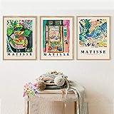 Kunstposter 3 Stück 50x70cm ohne Rahmen Henri Matisse