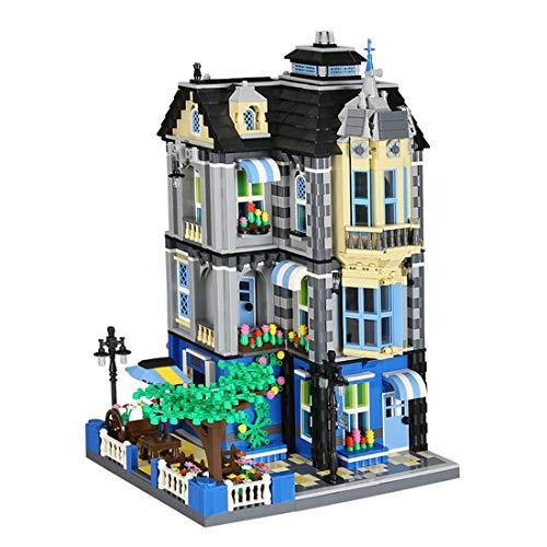 YxFlower 2313 Stück Custom Bausteine Modell Architektur Spielzeug - DIY Puzzle Bausatz Modell Baukasten Kompatibel mit großen Marken Militär Baustein - Garten Cafe