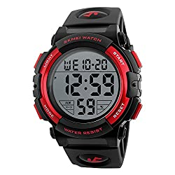 professional Men's Sports Watch Digital Military Classic Stop Watch Large Dial Electronic LED Backlight…