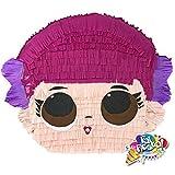Piñata LOL surprises, la piñata con forma de la cabeza de una de las muñecas LOL, hecha a mano y per...