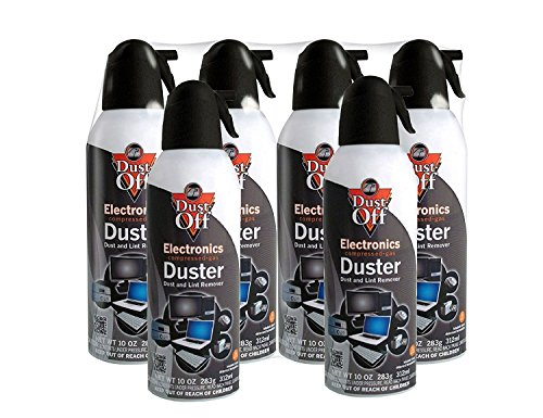 DustOff Disposable Compressed Gas Duster 10 oz Cans 6 Pack