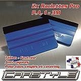 carstyle 2 x Raclette Pro 3M PA1 Teflon + Filz weich gegen Kratzer Covering