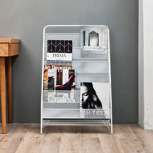 HGFDS Convenience Nordic Minimalist Moderne Eisen Magazin Regal Kinderbilderbuch Kleines Bücherregal (weiß Trompete (3 Schichten)) (Color : White Large Size (5 Layers))