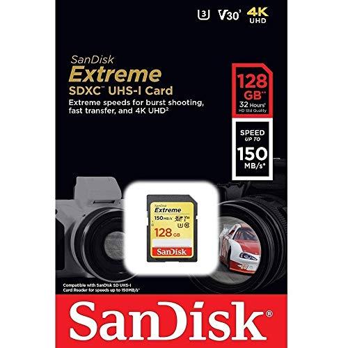 Cartão Sd Sdxc Sandisk Extreme 128gb 150mb/s U3 Lacrado Nfe