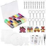 LIHAO 7000 Perles à Repasser 5mm, 24 Couleurs, 5 Plaques pour Loisirs Créatifs,...