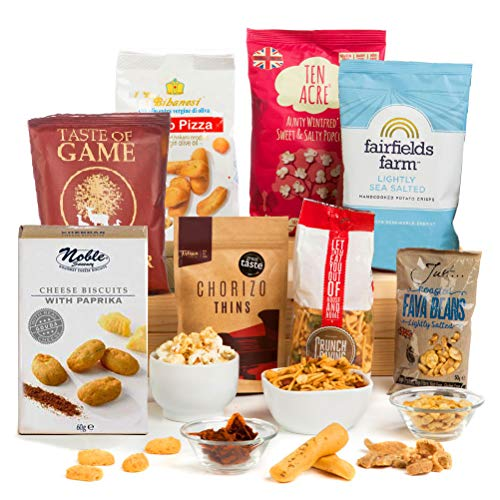 Savoury Snack Attack! Nuts, Crisps, Cheese Nibbles - Hamper Giftbox
