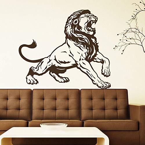 Yaonuli Muurstickers leeuw vinyl Decoratie van het huis zelfklevend woonkamer decoratie afneembaar
