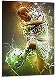 RZHSS Fußballstars Zinedine Zidane Leinwand Kunst Poster