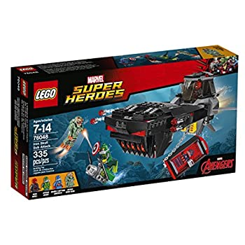 LEGO Super Heroes Iron Skull Sub Attack Building Kit  335 Piece