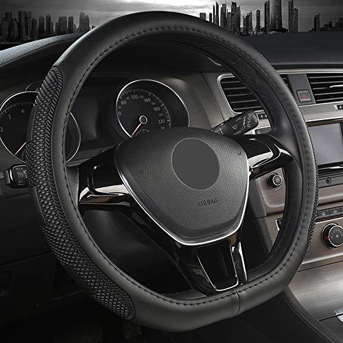 """38cm //15"""" Black White Line Non-slip Breathable Steering Wheel Cover Four Seasons"""
