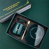 Calentador de tazas de café , calentador eléctrico USB de taza de apagado automático, mantiene el agua caliente 55 ℃ Set con taza