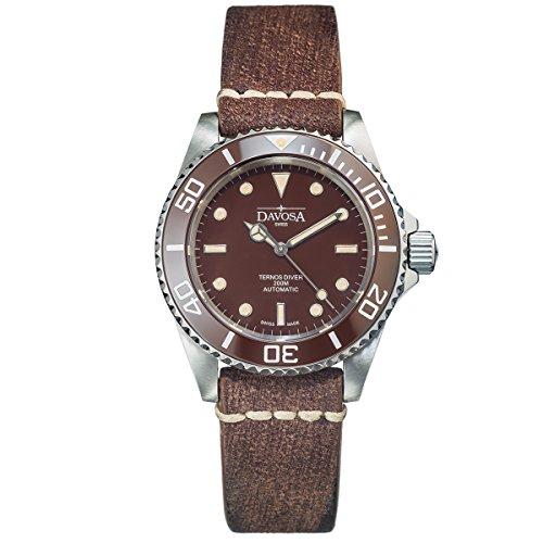 DAVOSA Ternos uomo orologio vintage-Stil Swiss Made Automatic mod. No....