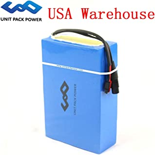 GoodPoint Art 48V 20AH E-Bike Waterproof PVC Lithium Battery with Charger for 1000 Motor (USA Warehouse) (48V 20AH)