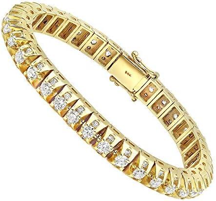 15 Carat Unique Diamond Tennis Bracelet for Men in 14k Gold 15ctw Yellow Gold product image