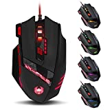 Zelotes 9200 DPI Wired Gaming Mouse ,8 Buttons,Weight Tuning Set,Black