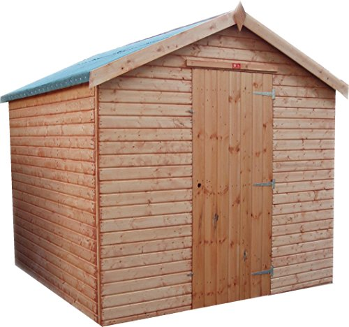Pinelap 10x8 quality fully T&G wooden euro apex garden shed timber