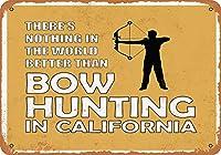 2個 20*30CMメタルサイン-カリフォルニアのボウハンティングは世界一です