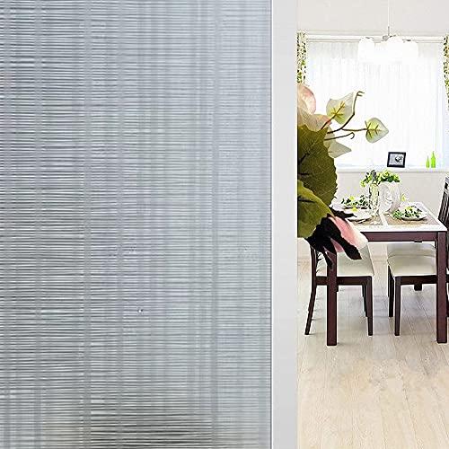 Shackcom Lámina de privacidad autoadhesiva opaca para ventana, 90 x 400 cm,...