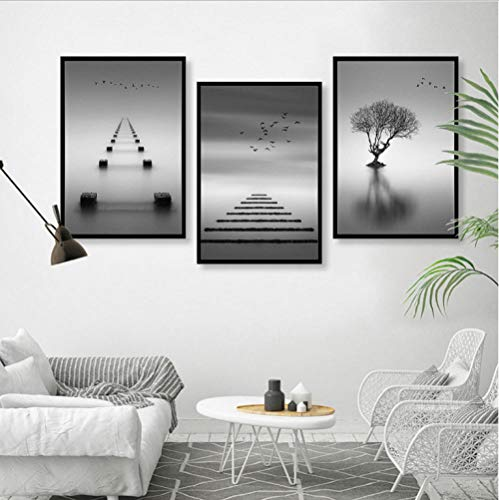 ValerieMantz Nordic modern Minimalist Abstract Black and White Scenery Living Room Decorative Paintings No Frame