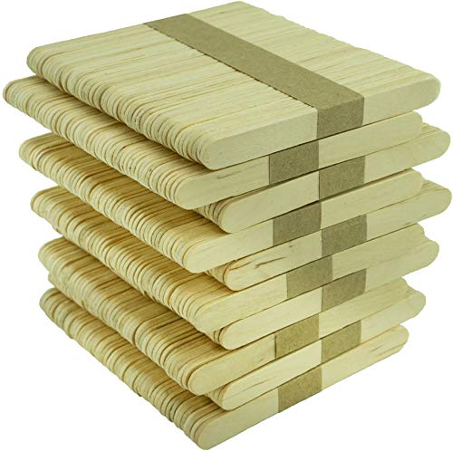 Bastelhölzer A0590015 Basteln aus unbehandeltem Birkenholz, 93x10x2mm, 500 Stück, natur, 93 mm