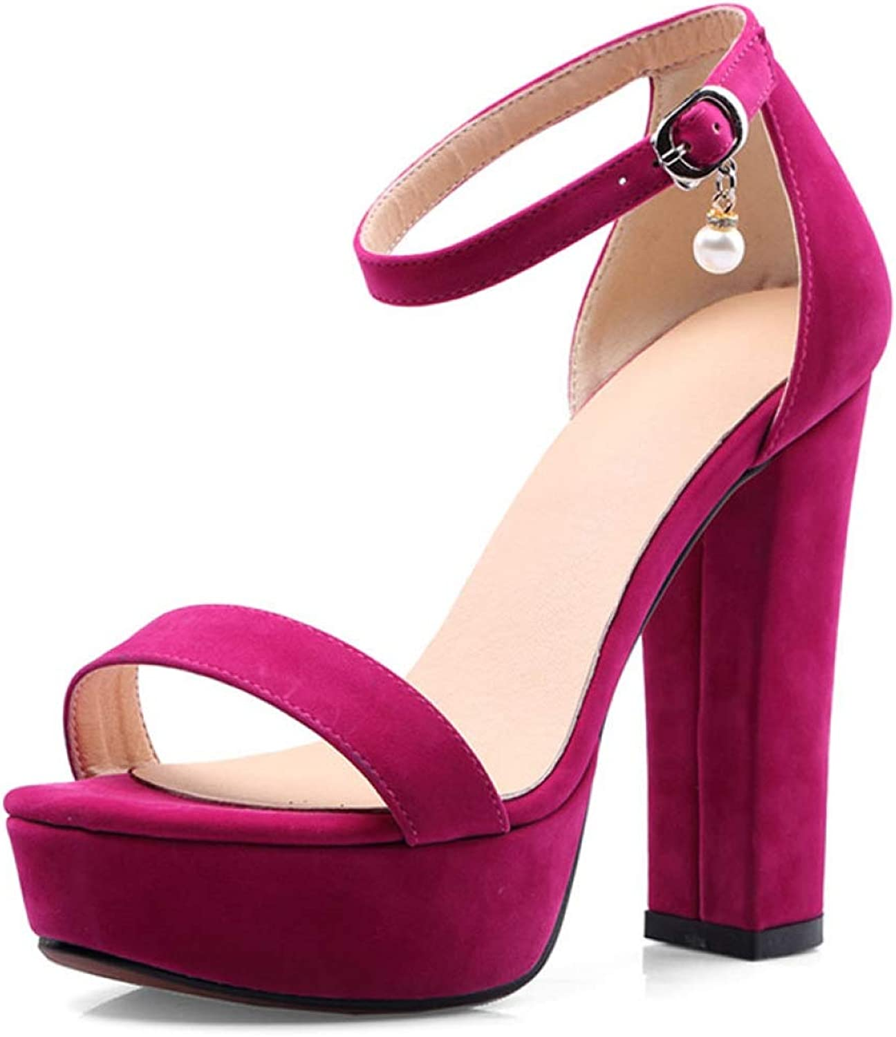 T-JULY Platform Sandals for Women High Heel Concise Buckle Ankle Strap Bride Summer Fashion Ladies shoes