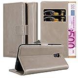 Cadorabo Hülle für LG X Screen in Cappuccino BRAUN – Handyhülle mit Magnetverschluss, Standfunktion & Kartenfach – Case Cover Schutzhülle Etui Tasche Book Klapp Style