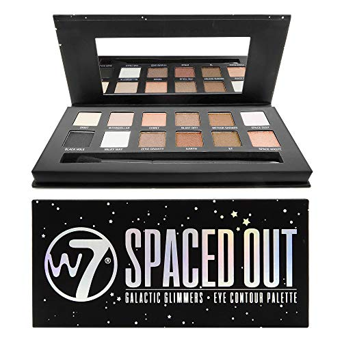 W7 Spaced Out Galactic Glimmers Eye Contour Palette 9,6 g, 12 pezzi