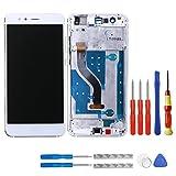 swark - Pantalla LCD compatible con Huawei P10 Lite was-LX1, was-LX2, was-LX3, WAS-LX1A, WAS-LX2J, WAS-L03T, WAS-AL00, WAS-TL10 (blanco con marco), pantalla LCD táctil + herramientas