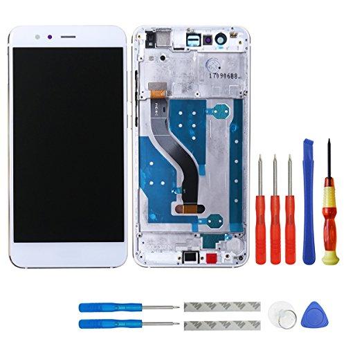 swark - Pantalla LCD compatible con Huawei P10 Lite WAS-LX1/WAS-LX1A was-LX2 WAS-LX2J was-LX3 WAS-L03T marco + herramientas LCD pantalla táctil