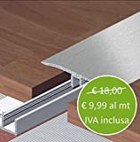 Profilo di Raccordo in Alluminio - Asta da 270 cm - Pavimento Laminato...