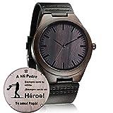 Relojes de Madera Personalizado, Moda Casual Clásico Hecho a Mano de Madera Reloje Regalo (A-a Mi Padre)