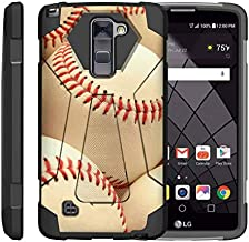 TurtleArmor   Compatible with LG Stylus 2 Case   LG G Stylo 2 Case   Stylo 2 V [Dynamic Shell] Dual Hybrid Hard Absorber Impact Silicone Cover Kickstand Sports Video Games - Pile of Baseballs