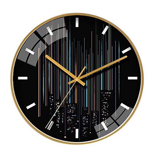 C-Bin1 Personality Wanduhr, Glasspiegel Wanduhr Schwarz Stille Wanduhr Firma Cafe Flower Shop Wanduhr Radius: 30/35 cm mehr Dekoration (Color : C, Size : 14 inches)