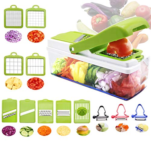 Rtmaxco Mandoline Slicer Dicer Vegetable Chopper, Peeler, Food Chopper Onion Chopper Julienne,All in 1 Slicer Dicer Cutter, Fruits Veggie Chopper, Kitchen Gadget.
