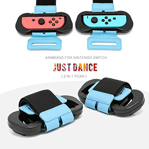 Wrist Band for Just Dance 2019 - Nintendo Switch Standard Edition - 2 Packs (Fit for 4.72-7.5 inches Wrist Circumference)