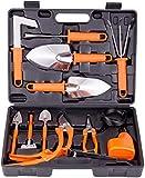 BNCHI Gardening Tools Set,Portable Stainless Stee 12 Piecesl Garden Tool Sets,Gardening Gifts for Women,Men (6 Pieces-Orange)