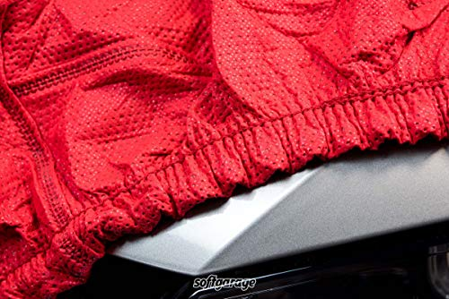 SOFTGARAGE 3-lagig rot Indoor atmungsaktiv wasserabweisend Car Cover Vollgarage Ganzgarage Autoplane Autoabdeckung 101020-0005586
