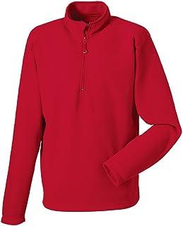 Russell Mens Zip Neck Fleece Jacket Outdoor Walking Jumper Sweatshirt Sweater