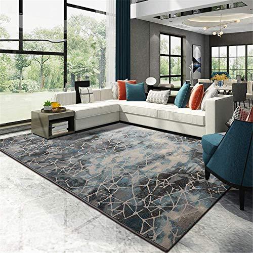 MJY Teppiche Einfache Moderne Licht Luxus Teppich Wohnzimmer Sofa Couchtisch Matte Schlafzimmer Volle Shop Bettdecke Rechteckige Vier Farbe Optional Größe: 160 Cm * 230 Cm,Bach