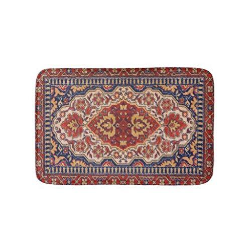 tian huan88 16x24 Inch Badmat, Kleurrijk Perzisch Tapijt Etnisch Motief, Machine-Wasbare Vloermatten voor Badkamer