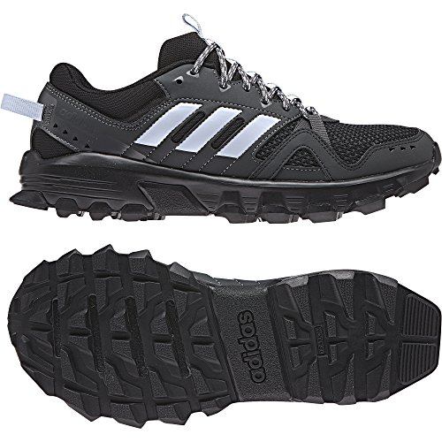 adidas Rockadia Trail, Zapatillas de Running para Asfalto Mujer, Negro (Cblack/Aerblu/Carbon Cblack/Aerblu/Carbon), 36 2/3 EU