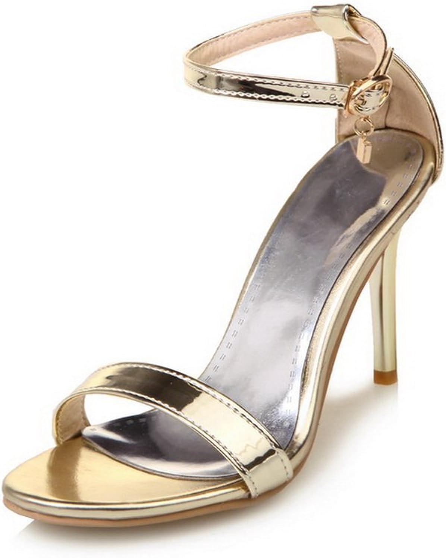 AdeeSu Womens Cold Lining Comfort Peep-Toe Urethane Sandals SLC03733