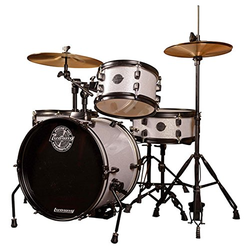 Ludwig LC178X Pocket Kit White Sparkle - Set de batería enfocado para niños