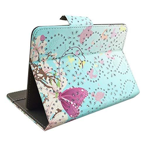 MEMETIAT Funda protectora para tablet PC de 10 pulgadas, diseño de flores y mariposas