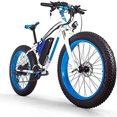 Bicicleta eléctrica de nieve, 26-pulgadas Fat Tire Bicicleta eléctrica / 1000W48V17.5AH batería de litio de MTB, 27 velocidad de nieve Esquí de bici / MTB for hombres y mujeres Batería de litio Playa